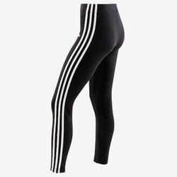 Legging fille adidas noir avec les 3 bandes blanches sur les côtés