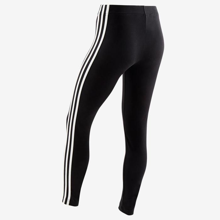 Legging voor meisjes zwart met 3 witte strepen opzij