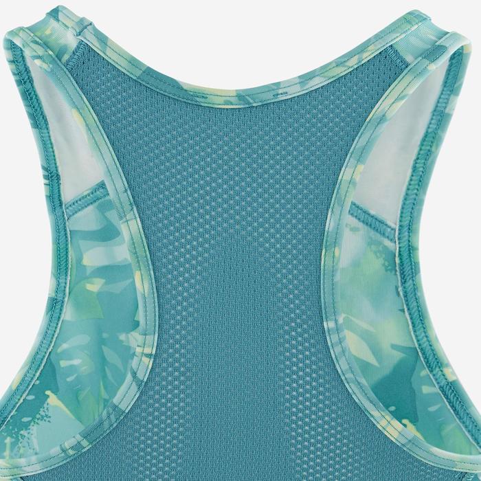 Brassière respirante S500 fille GYM ENFANT vert et bleu imprimé