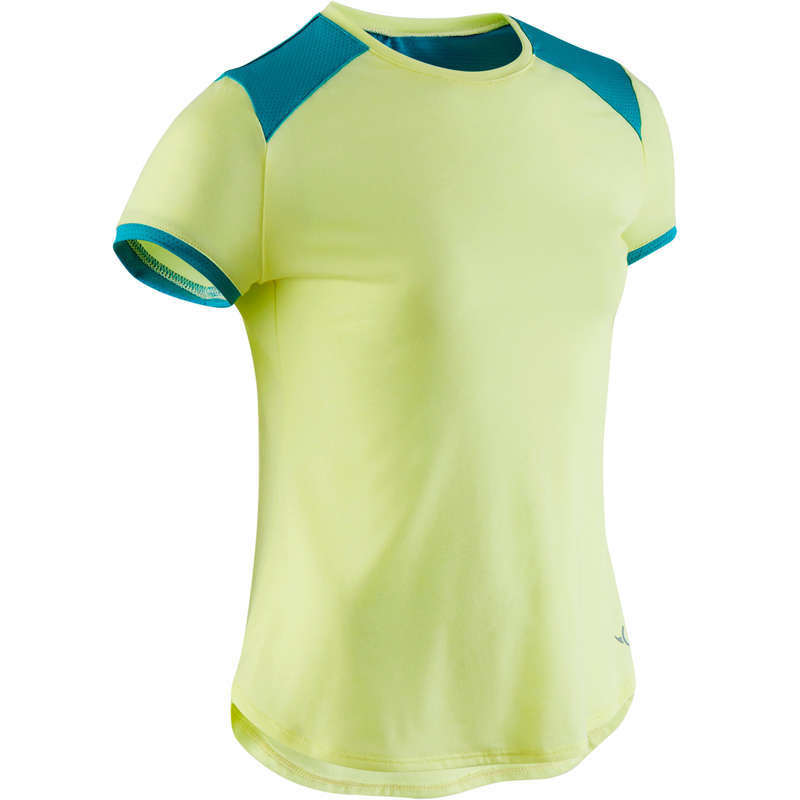 GIRL EDUCATIONAL GYM APPAREL Fitness and Gym - Girls' Bre Gym T-Shirt - Green DOMYOS - Gym Activewear