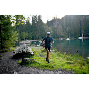 MEN'S TRAIL RUNNING BAGGY SHORTS - GRAPH GREY