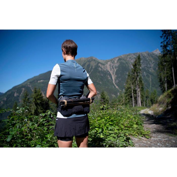 T-shirt met korte mouwen voor trail dames grijs