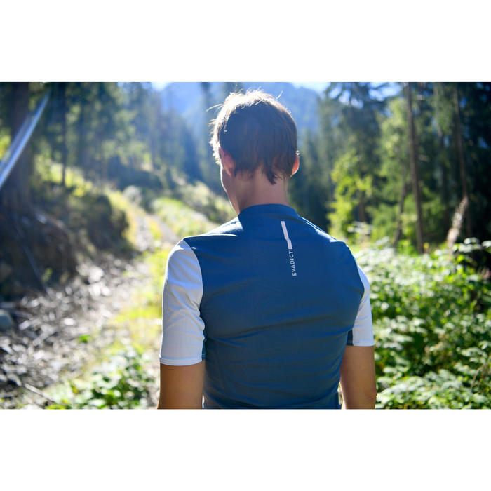 Tee shirt manches courtes trail running femme gris