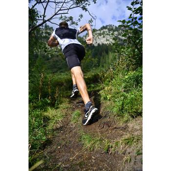 MEN'S TRAIL RUNNING SHORT-SLEEVED T-SHIRT GEOGRAPHIC - WHITE/BLACK