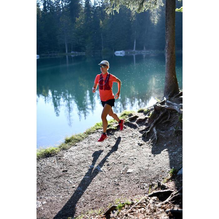 Falda-pantalón trail running mujer negro