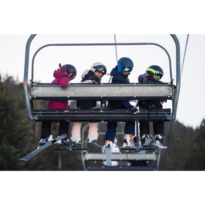 Skijacke Piste 900 Kinder grau/schwarz
