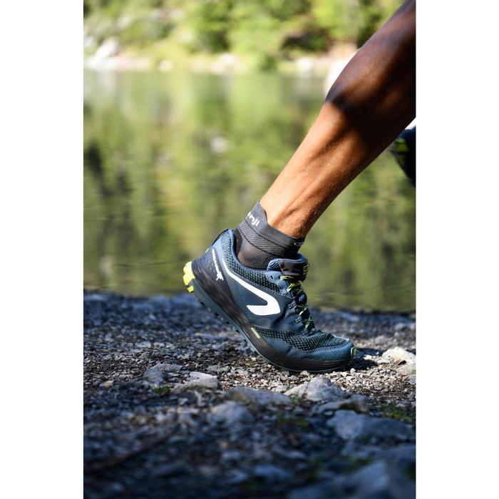 Calçado trail running TR Homem Azul escuro/amarelo