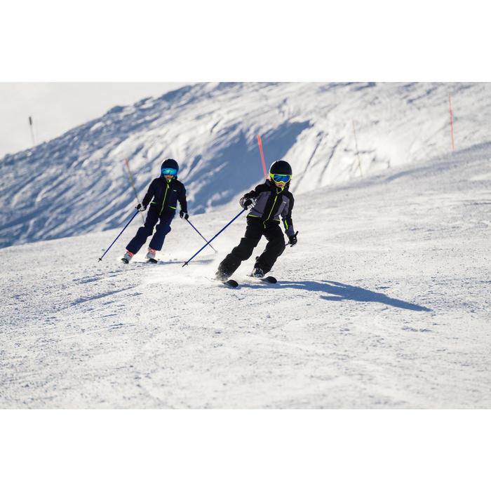 兒童滑雪外套900 - 灰色與黑色