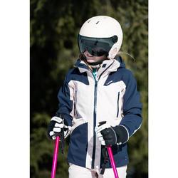Kids' Ski Jacket 900 - Navy Blue and Powder Pink