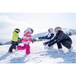 Ski-jas voor kinderen Warm Reverse 100 roze/wit