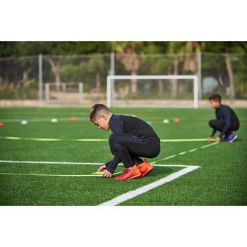 兒童款半開式足球訓練運動衫T500-黑灰配色