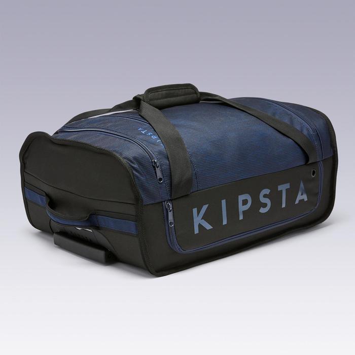 Sac à roulettes trolley - valise Essentiel 30 litres bleue et noire
