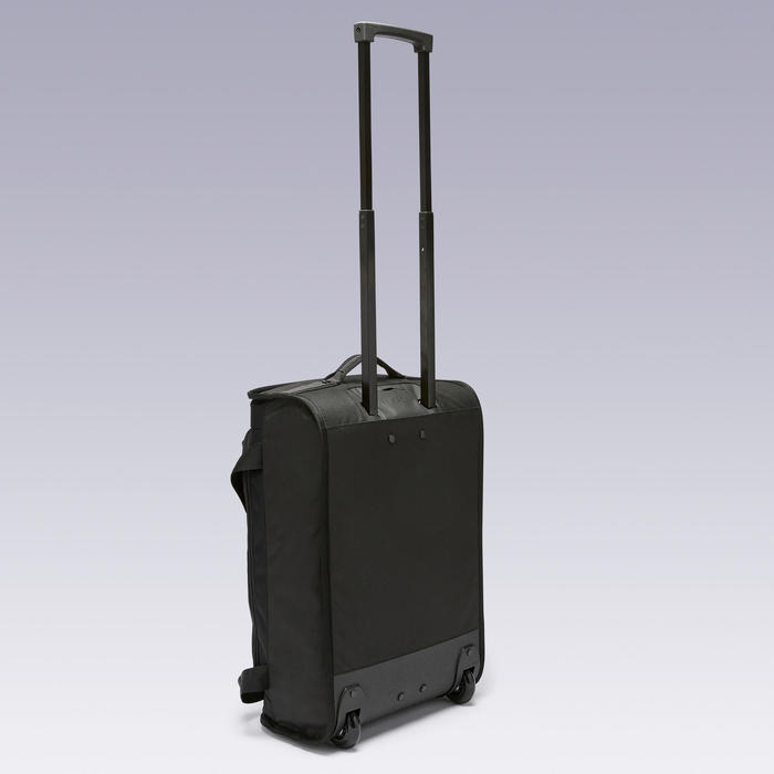 Tas op wieltjes trolley Essentiel 30 liter zwart