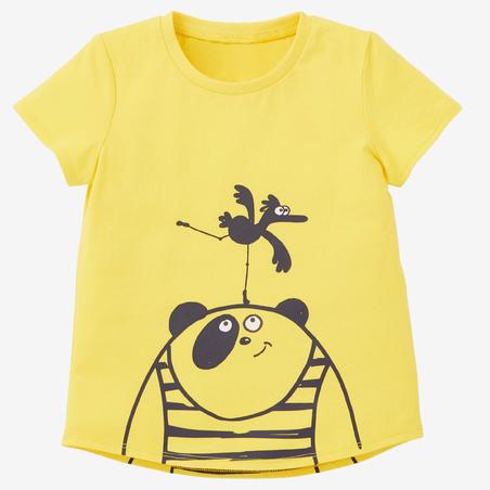 T-Shirt Senam Bayi Perempuan dan Laki-laki 100 - Kuning