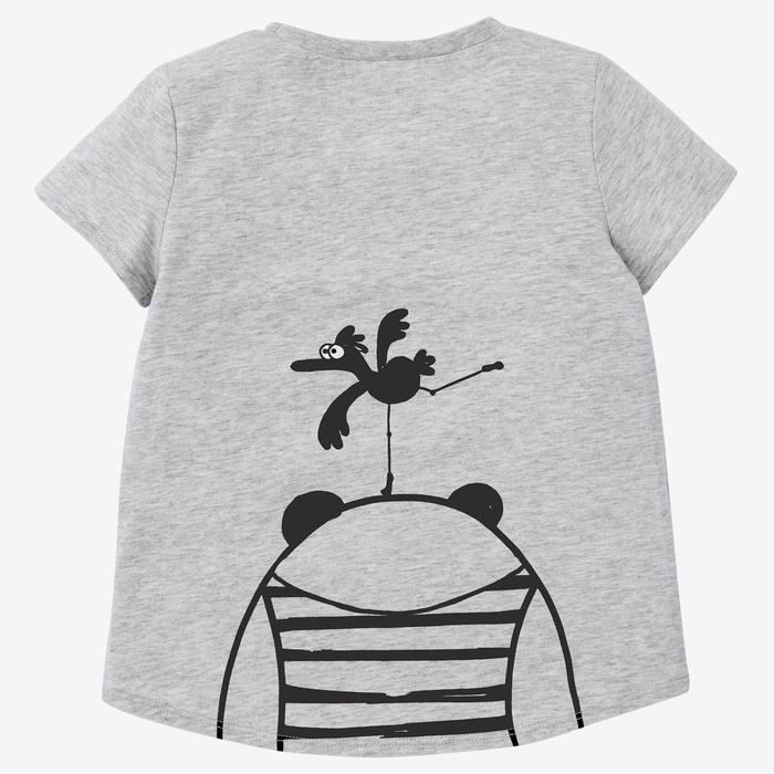 T-shirt 100 Baby Gym fille et garçon Gris print