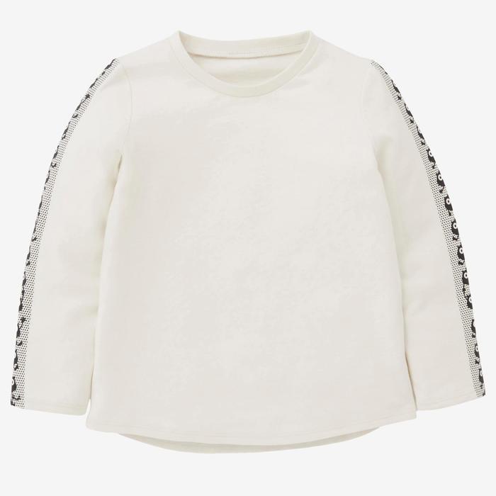Shirt met lange mouwen voor kleutergym 100 greige