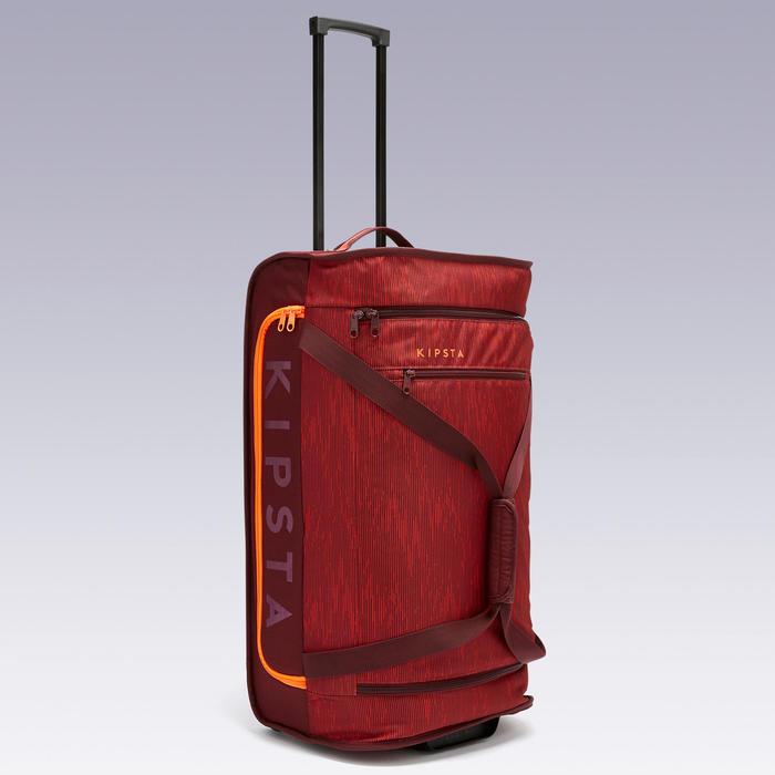 Sporttas op wieltjes/trolley voor voetbal Essentiel 70 liter bordeaux