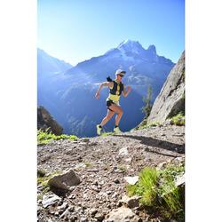 Débardeur trail running femme vert jaune
