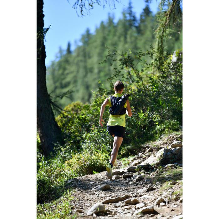 Trailtop voor dames groen/geel
