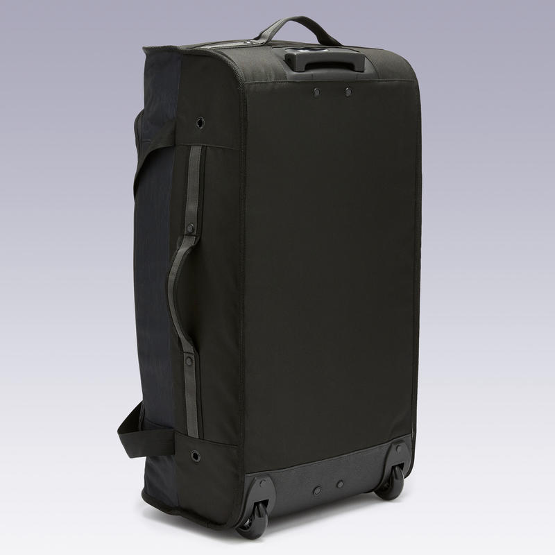 Bolso con Ruedas Essentiel 70 litros gris y negro