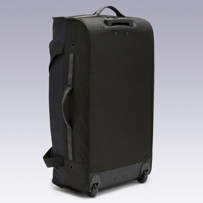 Tas op wieltjes trolley Essentiel 70 liter grijs en zwart