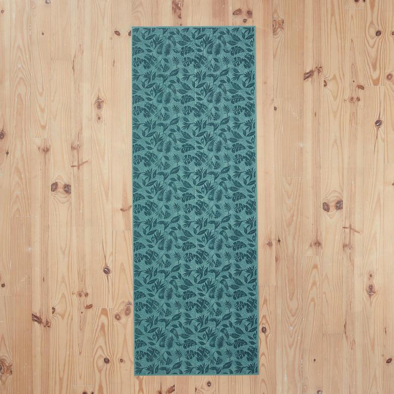 Comfort Gentle Yoga Mat 8 mm - Green Leaf Print