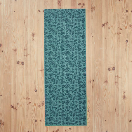 Matras Yoga Lembut Nyaman 8 mm - Bermotif Daun Hijau