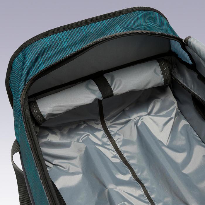 Sac à roulettes trolley - valise Essentiel 70 litres verte et grise