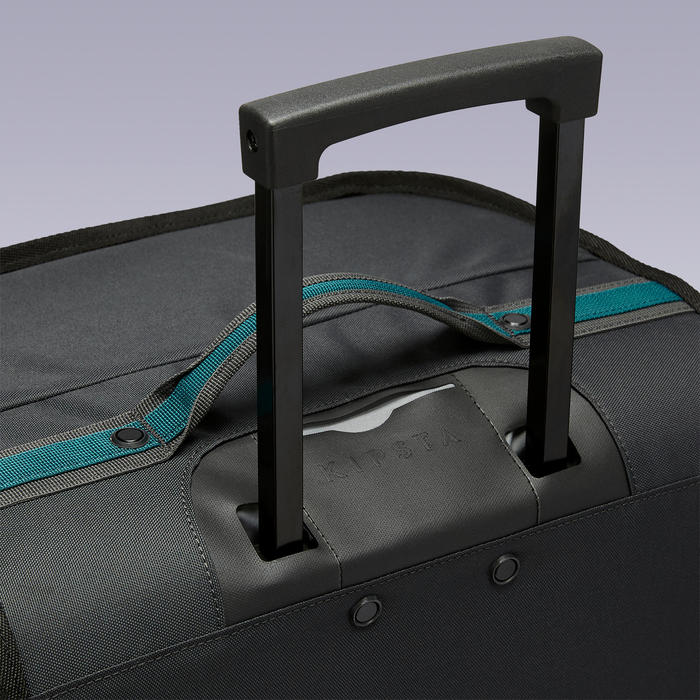 Trolley sporttas Essentiel 70 liter groen/zwart