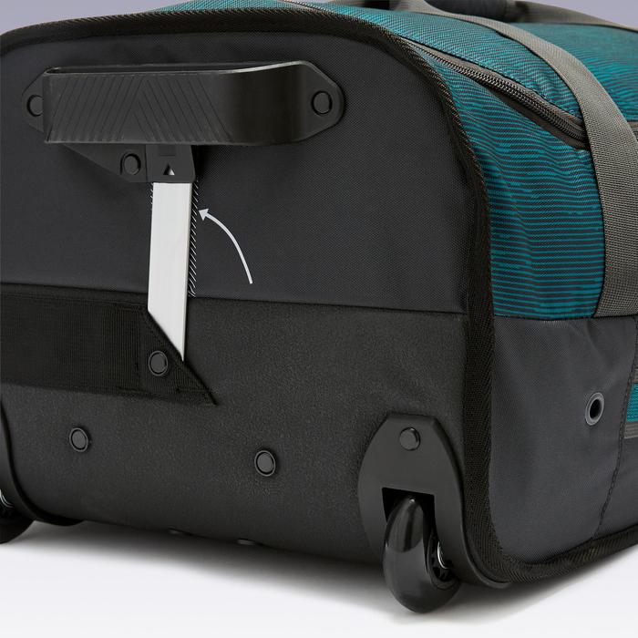 Tas op wieltjes trolley Essentiel 70 liter groen en zwart