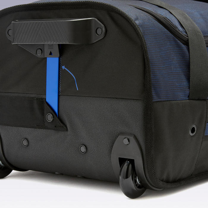 Trolley sporttas Essentiel 70 liter zwart/marineblauw