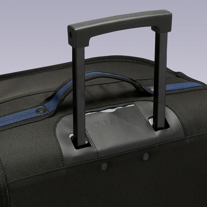 Tas op wieltjes trolley Essentiel 70 liter zwart en marineblauw