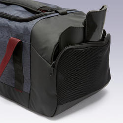 55L Sports Bag Academic - Black/Burgundy