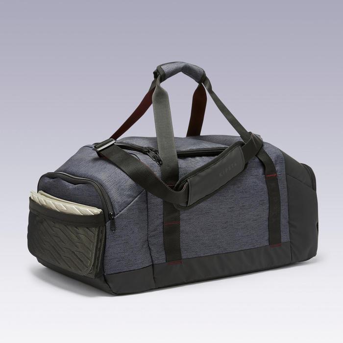 55L Sports Bag Academic - Black/Burgundy