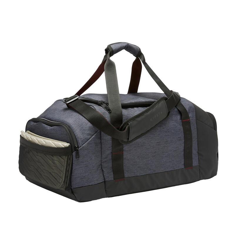 Bolsa de Deporte Kipsta Academique 55 litros negro burdeos