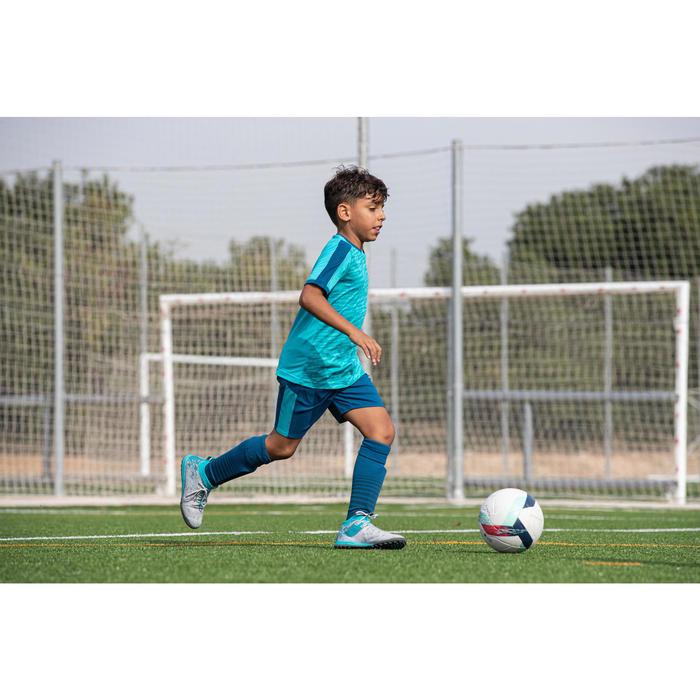 Voetbalsokken / voetbalkousen kind F500 petrolblauw