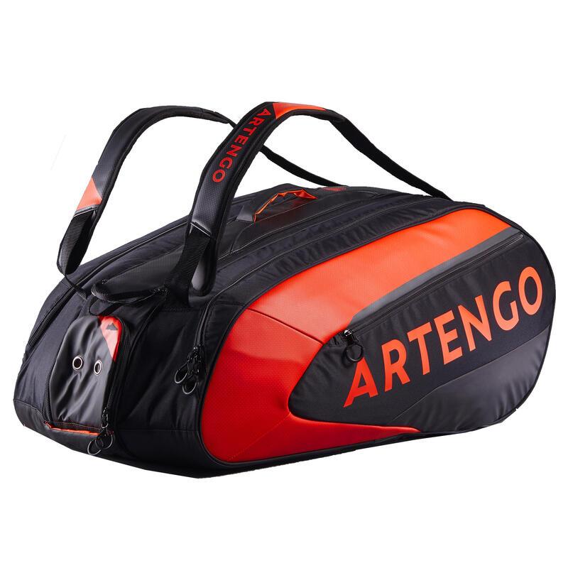 Tenisová taška na 12 raket 960 černo-oranžová