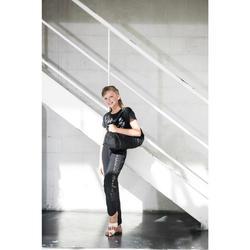 Saco Tubo de Dança Menina Preto com Brilhantes