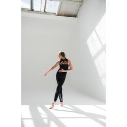 Brassière danse moderne noire à bretelles croisées fille