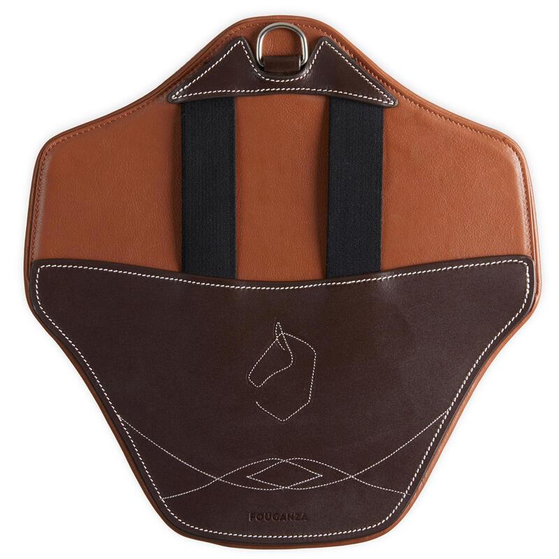 Bavette amovible 500 marron taille cheval