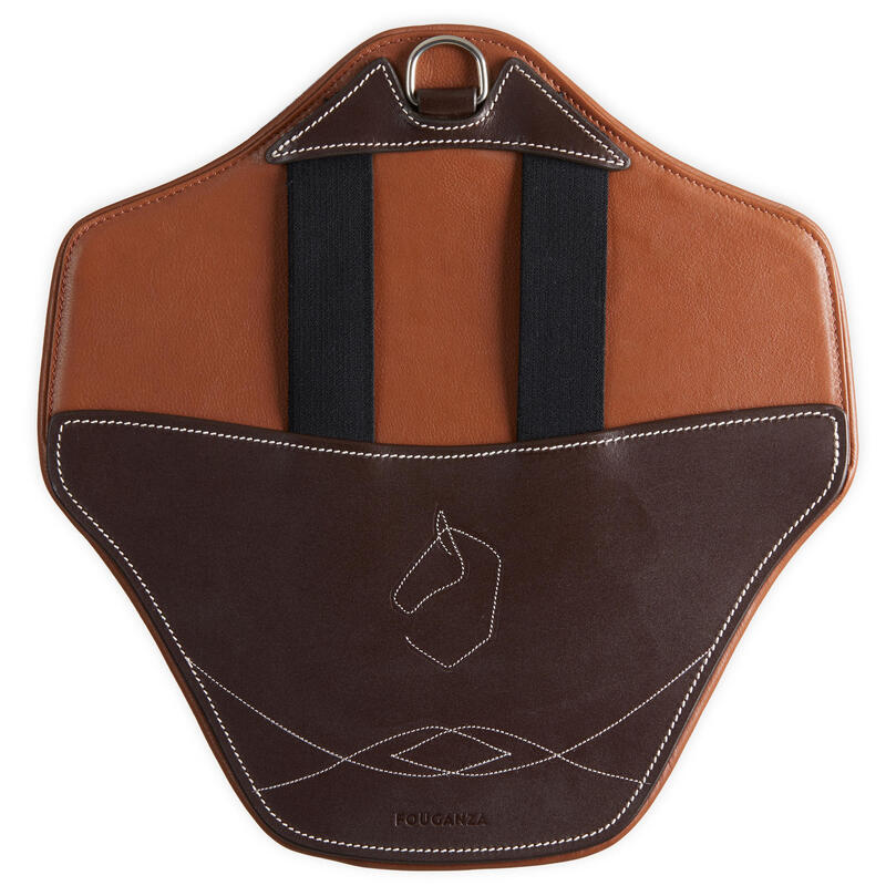 Bavette amovible 500 marron taille poney