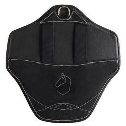 Afneembare buikflap voor paard 500 zwart