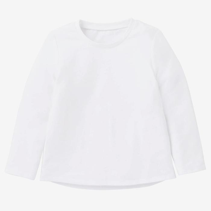Shirt met lange mouwen voor kleutergym 100 wit