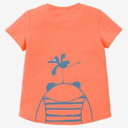 T-shirt 100 Baby Gym fille et garçon Orange/Turquoise