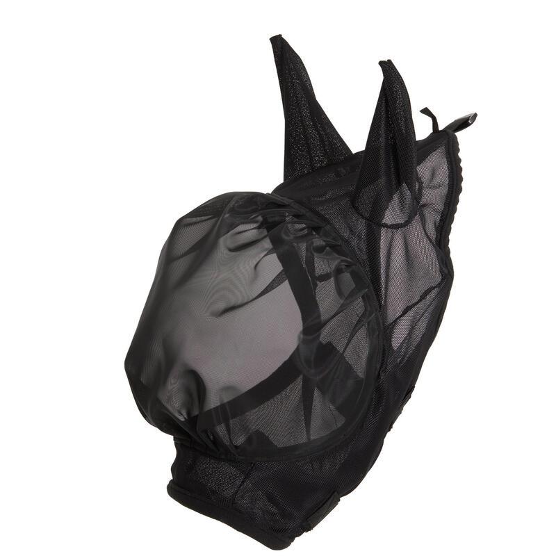 Masque anti-mouche équitation 500 poney noir