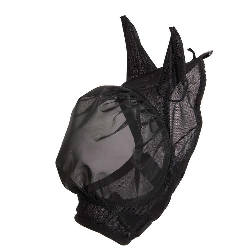 ЗАЩИТА ОТ НАСЕКОМЫХ Верховая езда - Противомоскитная маска 500 FOUGANZA - Уход за лошадью