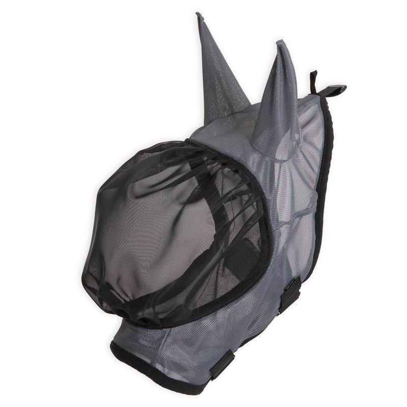 Horse Fly Mask 500 - Grey