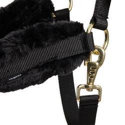 Licol mouton équitation cheval noir.
