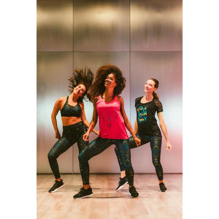 Legging danse fitness noir à graphisme femme