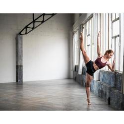 Short danse moderne noir ajusté femme